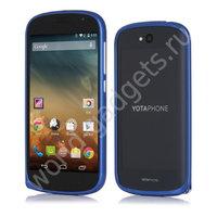 Алюминиевый бампер для YotaPhone 2 (синий)