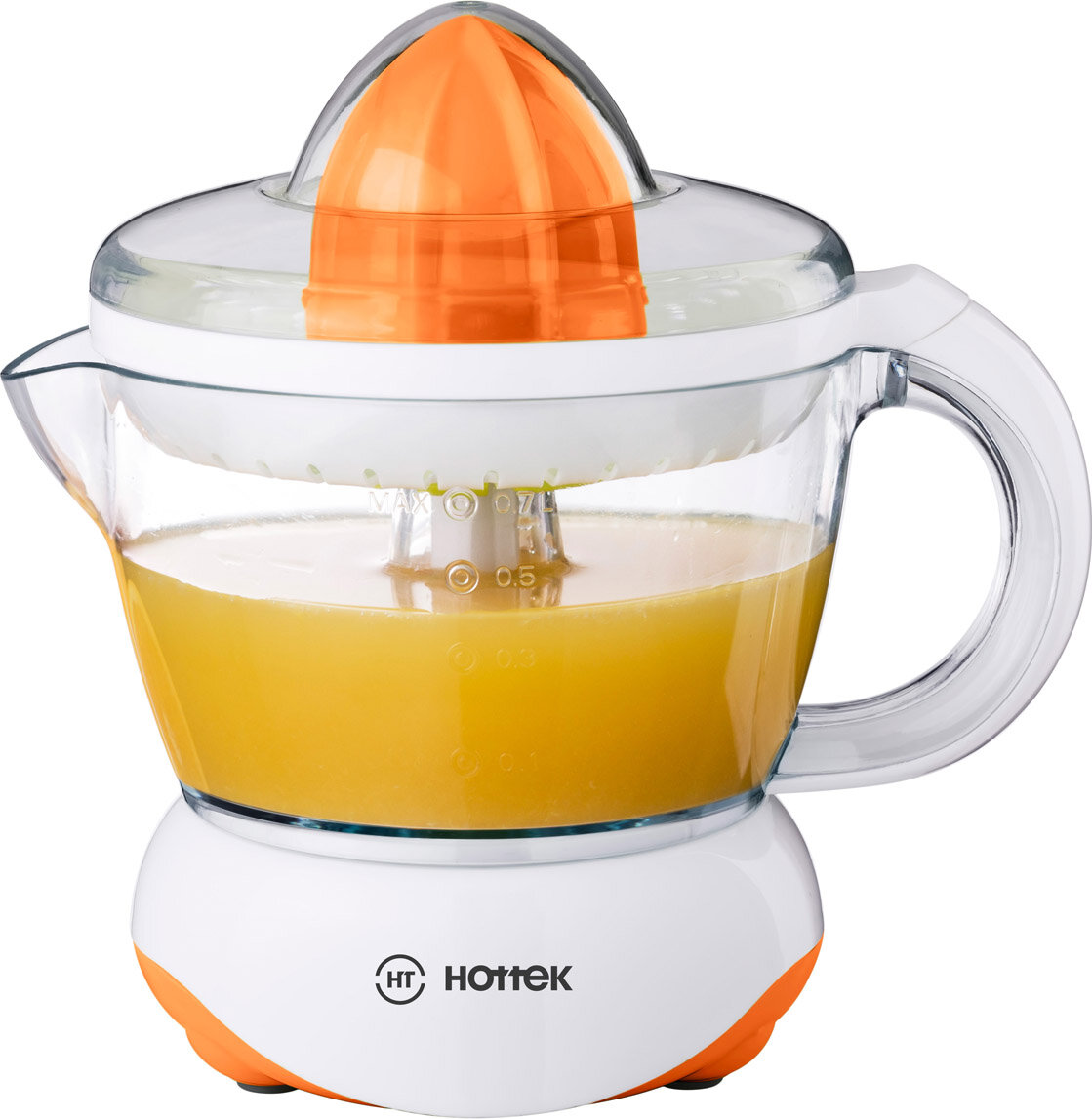 Соковыжималка Hottek ht-978-003, 700 мл оранжевый