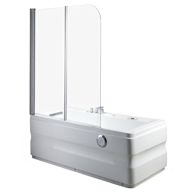 шторка д/ванны OFELIS Nika 140х120см 2 створки прозрачный