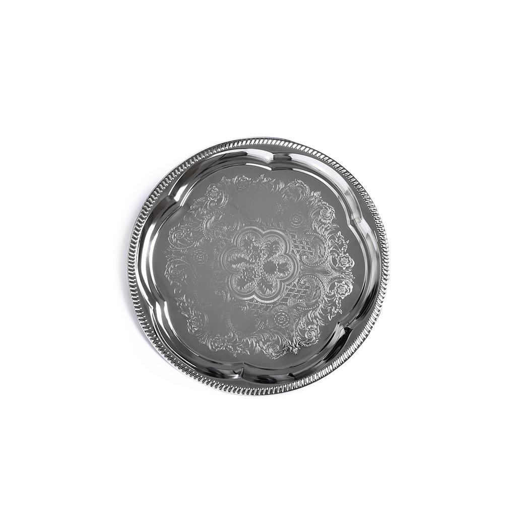 Подносы Fissman Поднос металлический хромированный 35см Круглый