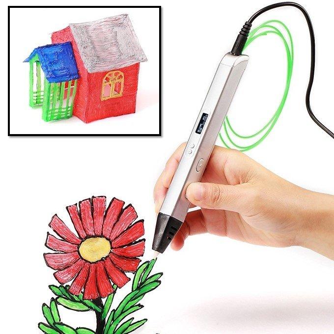 3D Ручка c OLED экраном Jer RP800A (белый)   3D ручки