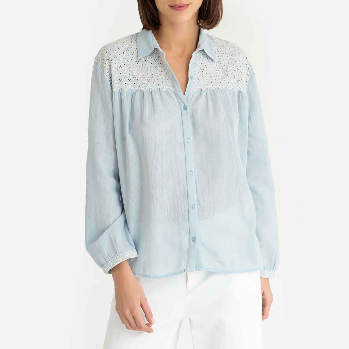 Блузка La Redoute Тонкая с длинными рукавами CAITLINA