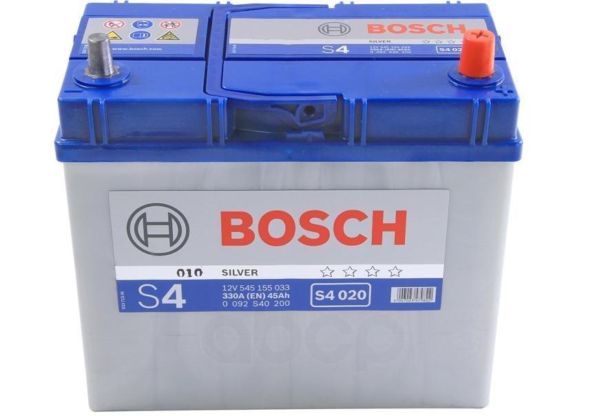 Акб s4 45ah 330a 238x129x227 (- ) Bosch арт. 0 092 S40 200