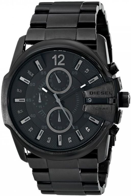 Diesel master chief black chronograph mens watch dz4180