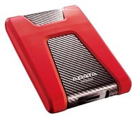 """Внешний жесткий диск 1TB ADATA HD650, 2,5"""" , USB 3.0, красный AHD650-1TU3-CRD"""