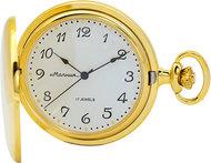 Мужские российские механические карманные часы Молния 0030103-m