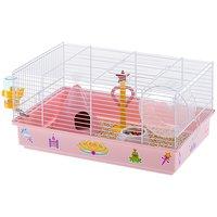 """Клетка для хомяков Ferplast Cricetti 9 Princess """"Принцесса"""", розово-белая"""