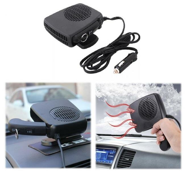 Тепловентилятор-фен в автомобиль 3в1