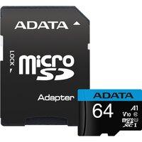 Карта памяти Adata Premier microSDXC 64Gb UHS-I U1 V10 A1 + ADP (85/25 Mb/s)