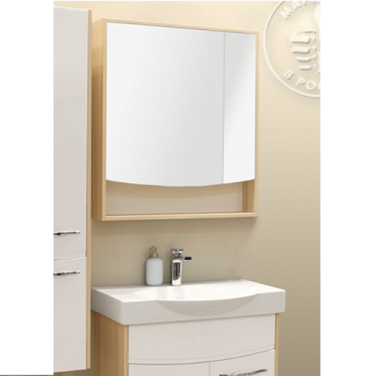 Зеркальный шкаф Акватон Инфинити 76 (760х850мм) ясень Коимбра 1A192102IFSC0