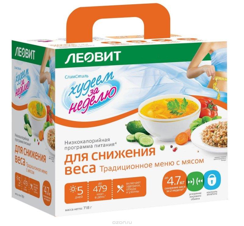 Программа питания LEOVIT Леовит Худеем за неделю
