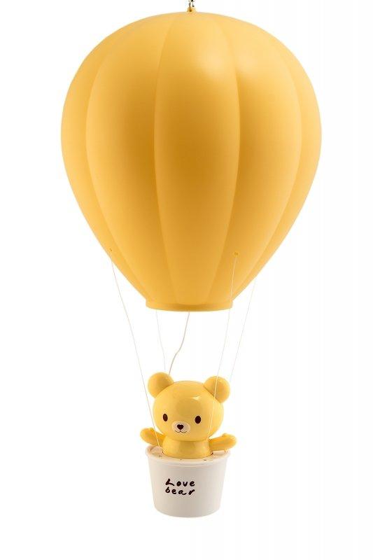 """Ночник-фонарь Лючия 101 """"Воздушный шар"""" желтый аккумуляторный, 3 ур. ярк., пульт ДУ., подвес/настен."""