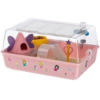 """Клетка для хомяков и мышей Ferplast Mini Duna Fairies """"Феи"""", розовая"""