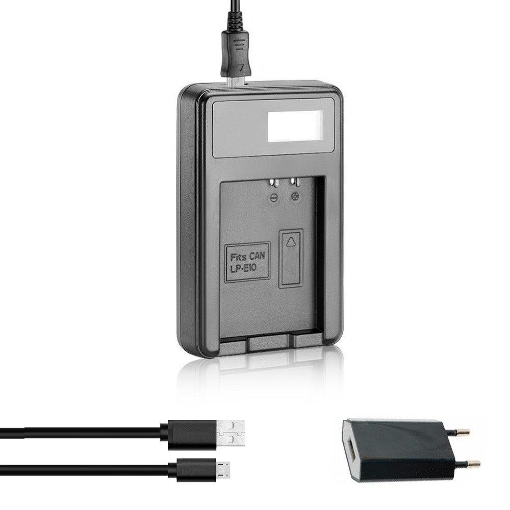 Зарядное Устройство LP-E10 USB с адаптером для Canon 1100D 1200D 1300D 2000D 4000D