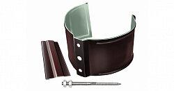 Хомут (кронштейн) водосточной трубы Grand Line Optima 125/90 на кирпич, круглое сечение, шоколад
