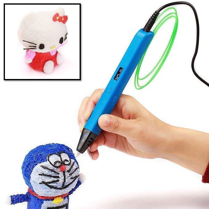 3D Ручка с OLED экраном Jer RP800A (голубой)   3D ручки