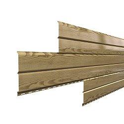 Сайдинг наружный металлический МеталлПрофиль Lбрус Сосна 6м (Ecosteel, 0,5мм, текстурированный)