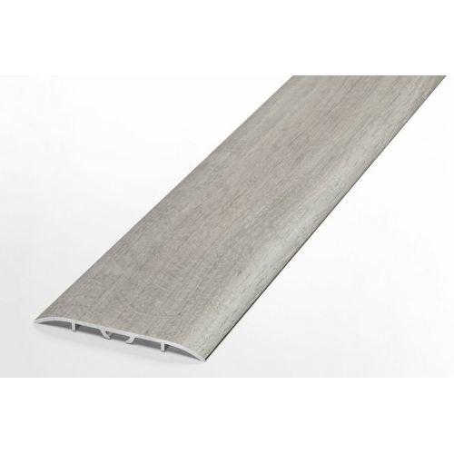 Порожек 60мм широкий напольный алюминиевый скрытое крепление Лука HIT, 4024 Дуб пепельный светлый