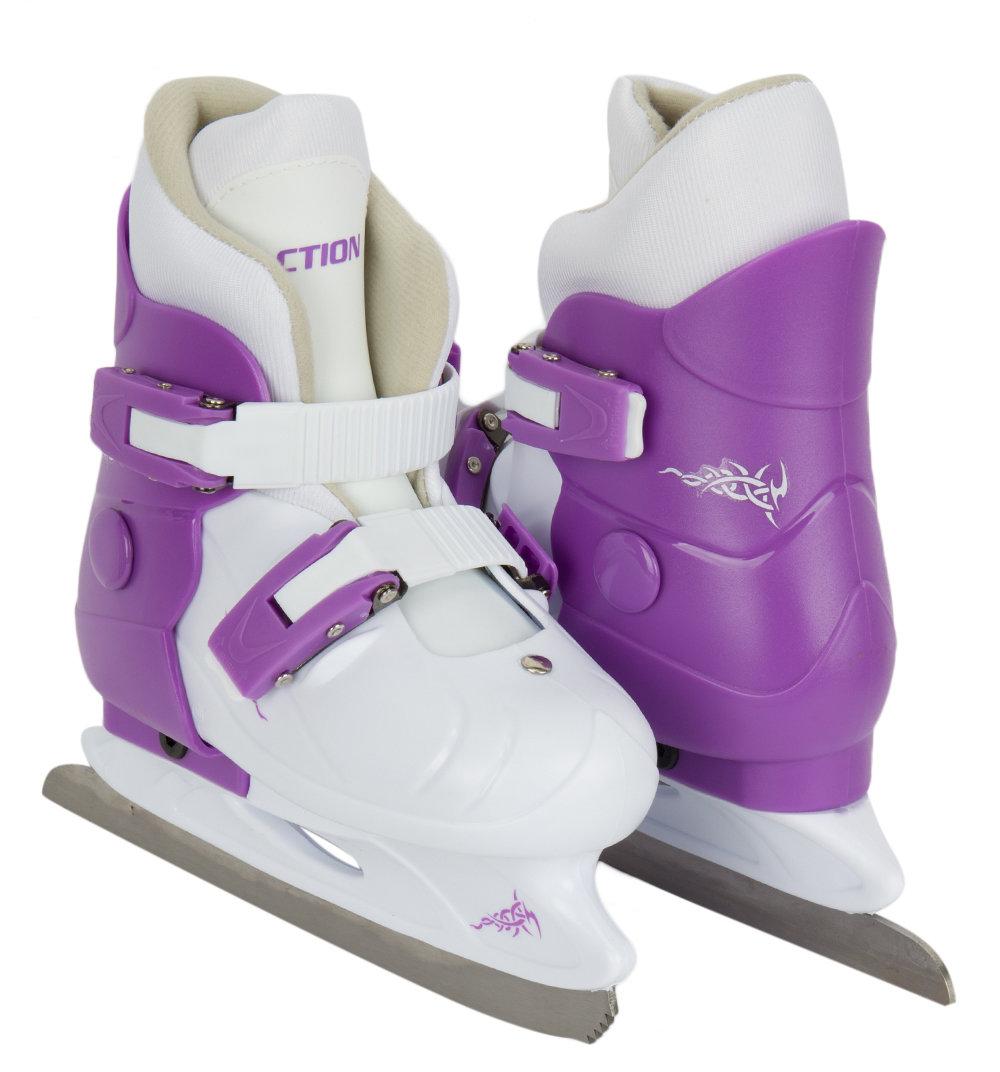 Коньки фигурные Action PW-219 размер:29-32, цвет: белый/фиолетовый
