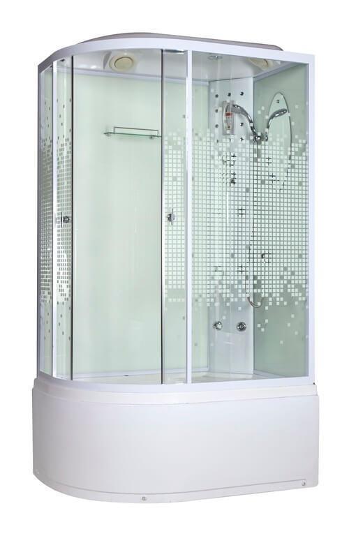 Душевая кабина Niagara (Ниагара) NG-310 R угловая с ванной, с глубоким поддоном (высокая), стеклянная, размер 120х80 см, правая