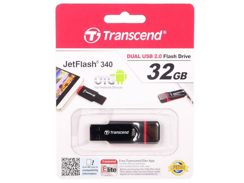 Флешка USB 32Gb Transcend JetFlash 340 TS32GJF340 черный