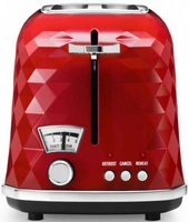 Тостер Тостер DeLonghi CTJ2103.R, 900Вт, разморозка, на 2 тоста, решетка для подогрева, поддон, красный