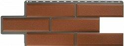 Фасадная панель (цокольный сайдинг) Альта-Профиль Венецианский камень Терракотовый
