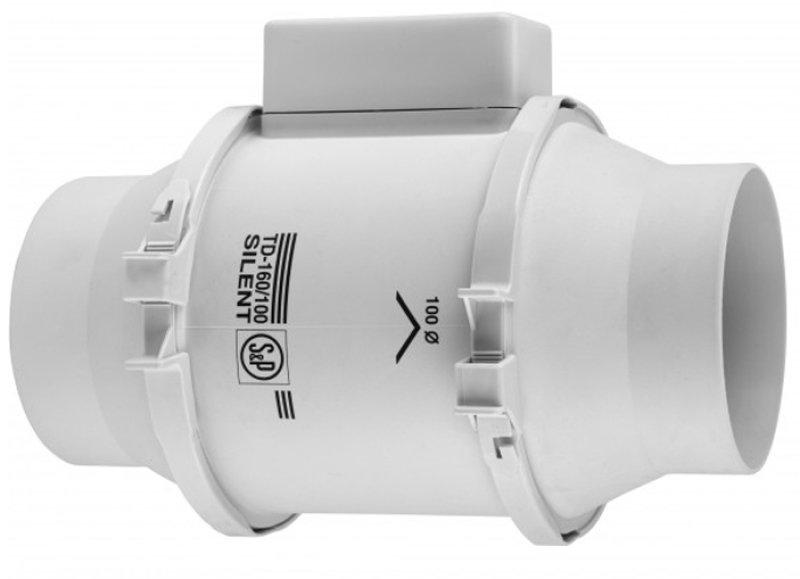 Вытяжной вентилятор канальный Soler & Palau TD160/100 N SILENT 230V 50 осевой
