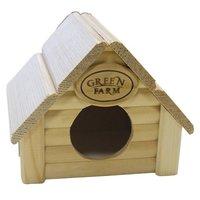 Дом для грызунов GREEN FARM Изба для мелких грызунов И-221