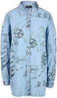 Рубашка женская Only, цвет: синий. 15148622_Light Blue Denim. Размер 36 (42)