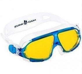 17ab3d25a9e1 ... MadWave Очки-маска для плавания Sight II (Цвет  Голубой желтые линзы)  ...