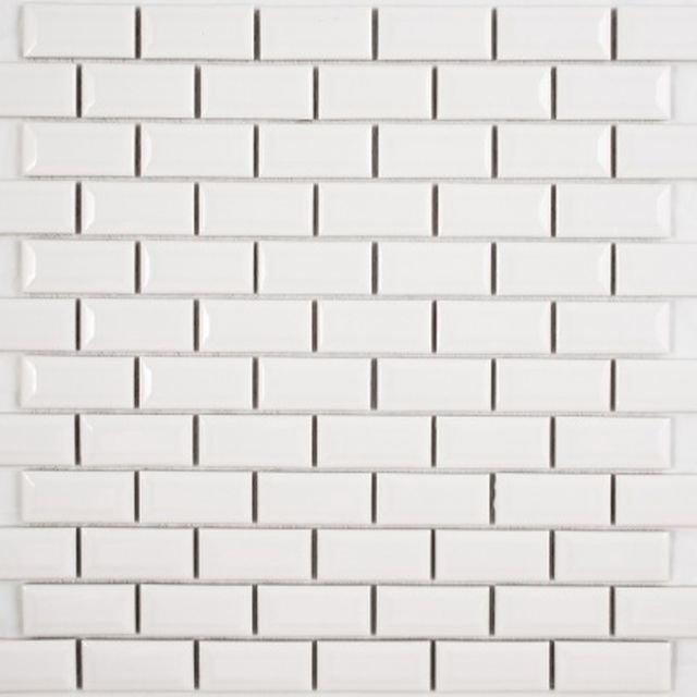 Керамическая мозаика Orro Mosaic Ceramic White Bar 30х30 см