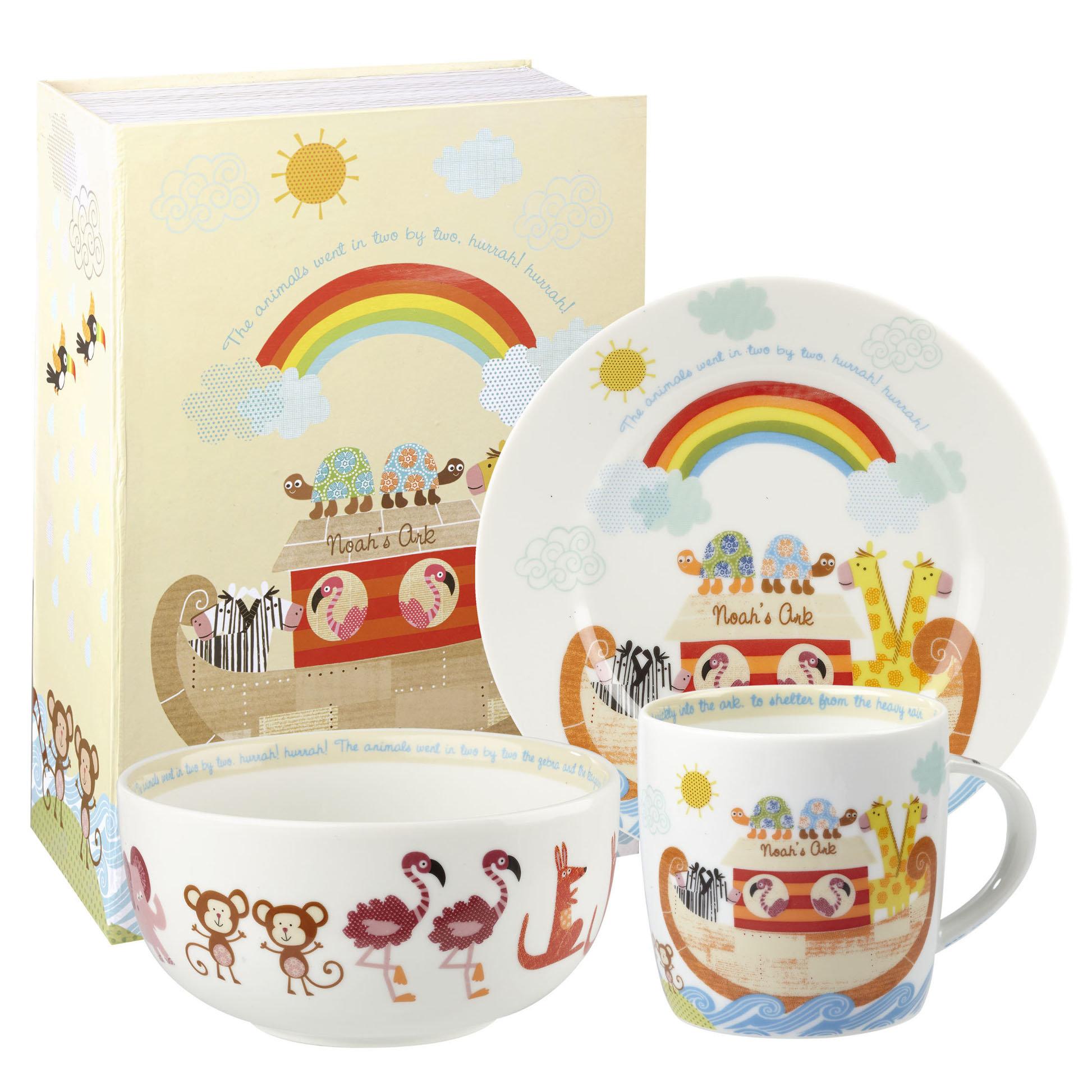 детская посуда Churchill Набор детской посуды Noah's Ark, 3 предмета, фарфор, декор
