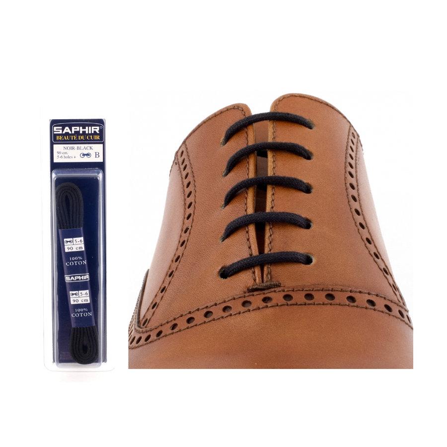Шнурки Saphir (круглые, тонкие) (Цвет-01 Черный Размер-45 см)