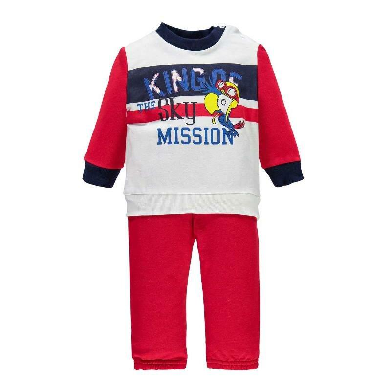 Комплекты Bimbus Спортивный костюм (толстовка+брюки) красный/белый