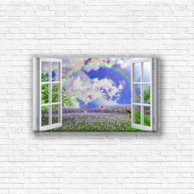 Модульная картина «Вид из окна»