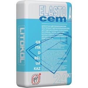 Гидроизоляция цементная LITOKOL ELASTOCEM (литокол эластоцем), ( компонент А), 24 кг