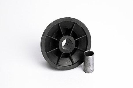 Пластиковый мебельный ролик (колёсик)16 мм с втулкой для выкатных диванов