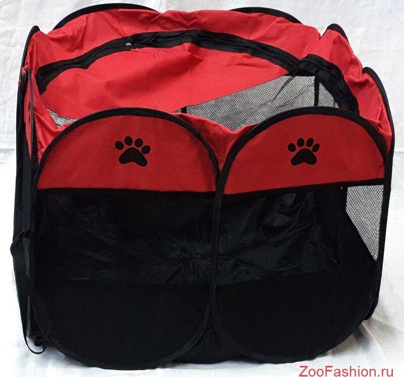 Вольер для собаки красный ( )