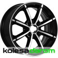 КиК Sportline 6x14/4x100 D67.1 ET40 Almaz_black - фото 1