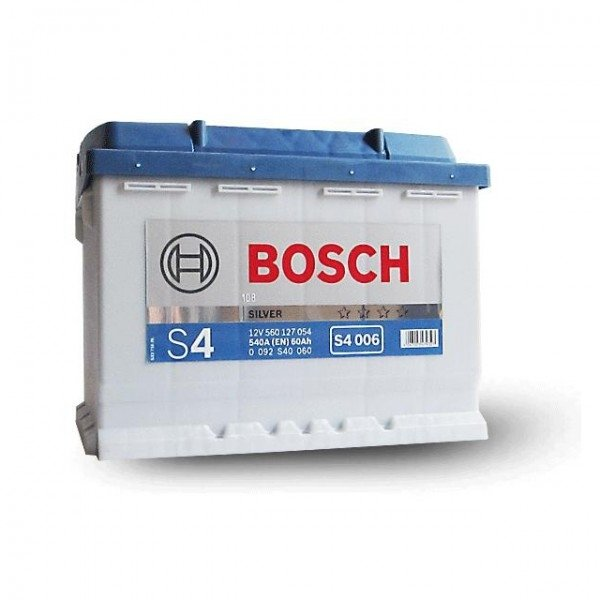 Аккумулятор BOSCH S4 006 Silver 560 127 054 прямая полярность 60 Ач