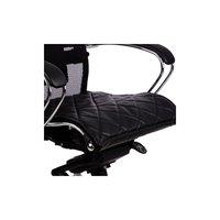 """Метта Накладка на сиденье для кресла """"SAMURAI"""", кожа, черная"""