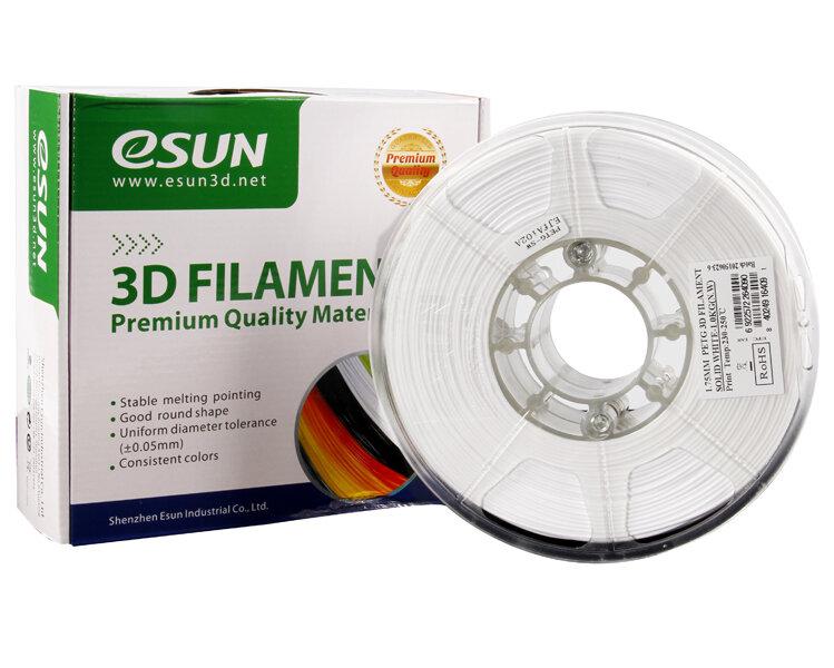 ESUN PETG пластик ESUN, 1.75 мм, белый, 1 кг