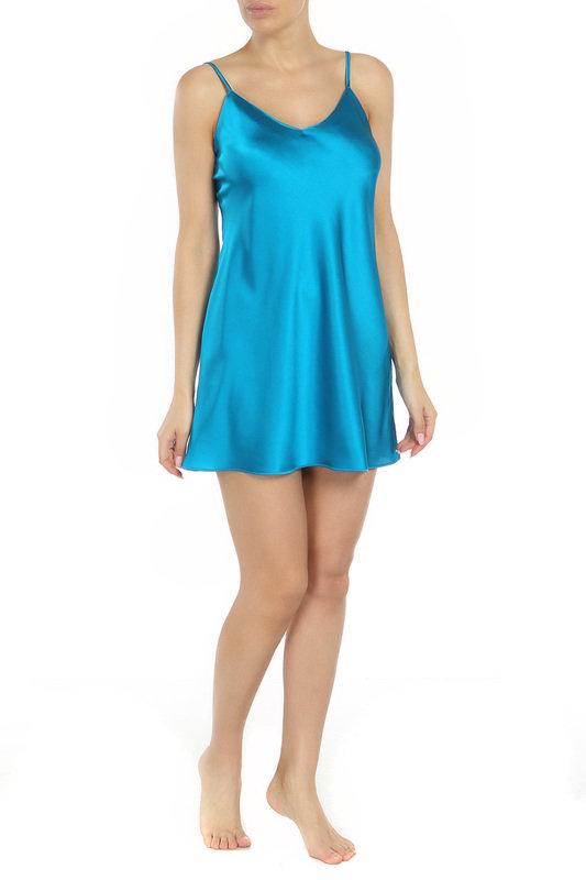 Сорочка шелковая Cotton Club INTENSA 8ZM S4 MARE голубой