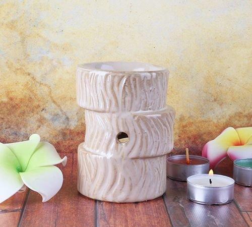 Аромалампа Древо 10 см керамика бежевая