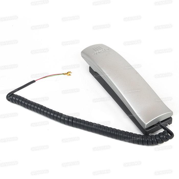 Трубка переговорная УКП-7М (серебро) для аудио-домофонов, Приборы охраны