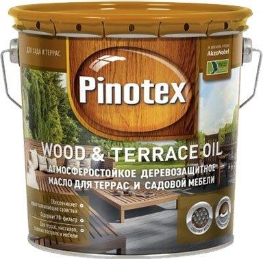 Масло для дерева PINOTEX WOOD&TERRACE OIL бесцветное 2,7 л.