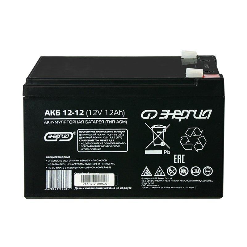 Аккумулятор для ИБП Энергия АКБ 12-12 (тип AGM)