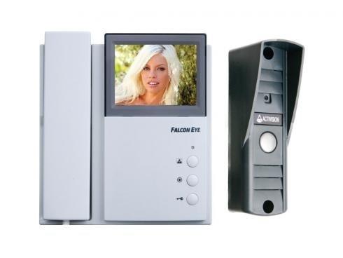 Комплект видеодомофона FALCON EYE FE-4CHP2 + вызывная панель AVP-505