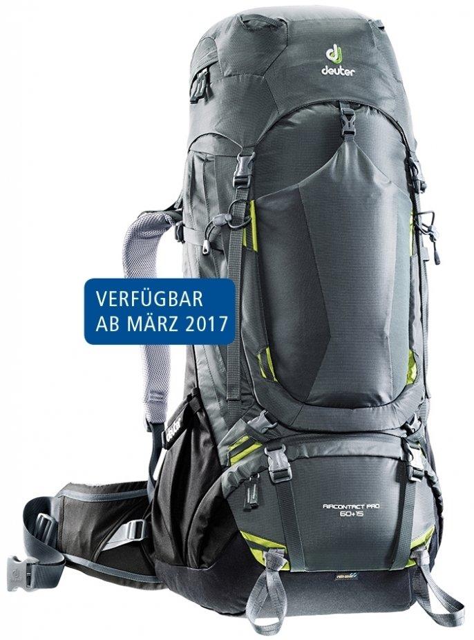 Рюкзак туристический Deuter Aircontact Pro 60+15 (цвет: Graphite-Black)